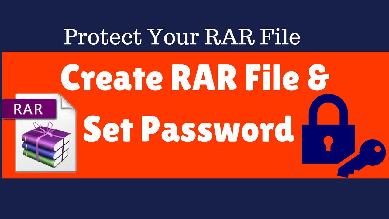 winrar setting password