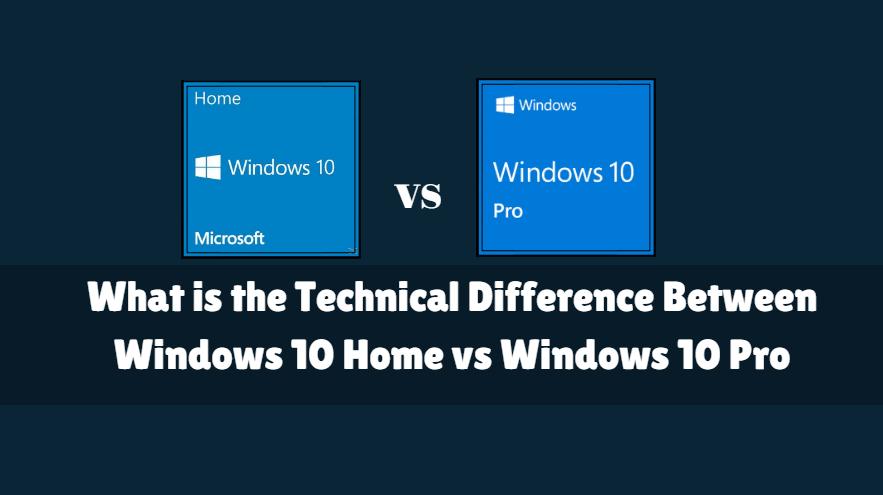 windows ten pro vs home