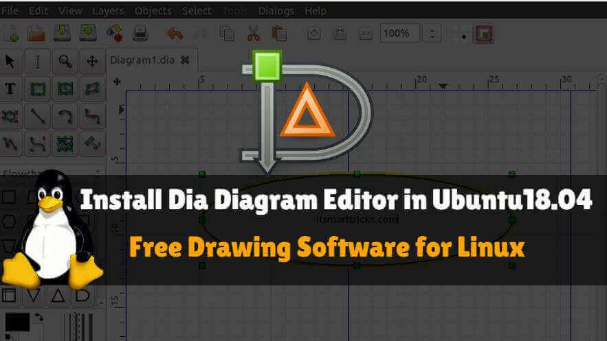 Install Dia Diagram Editor In Ubuntu 18 04 Drawing Software For Linux