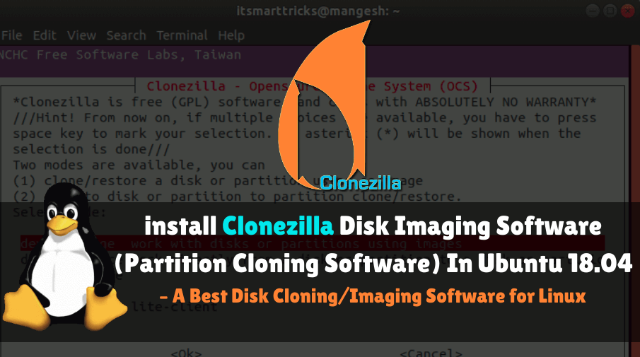 Install Clonezilla Disk Imaging Software(Partition Cloning) In