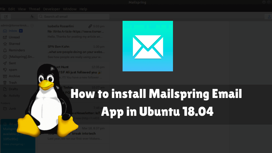 How to install Mailspring Email App in Ubuntu 18 04 » IT