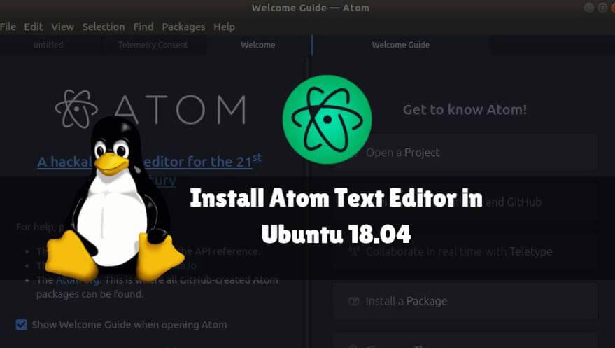 How to install Atom Text Editor in Ubuntu 18 04 » IT SMART