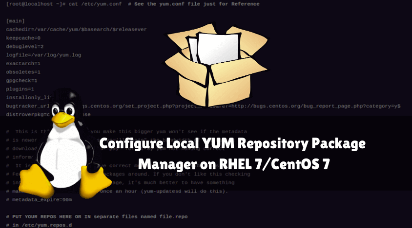 Configure Local YUM Repository Package Manager on RHEL 7