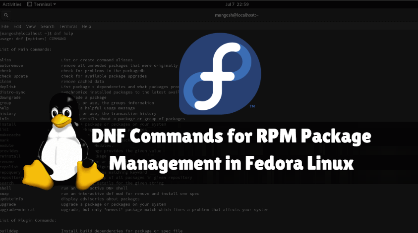 DNF Commands for RPM Package Management in Fedora Linux