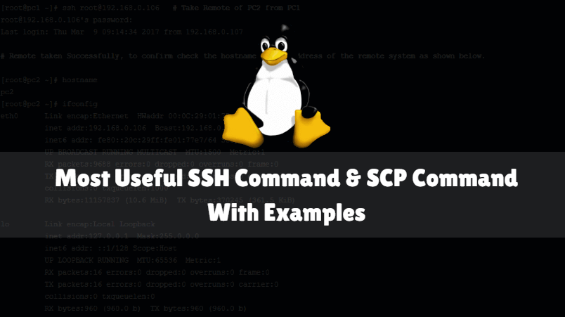 Most Useful SSH Command And SCP Command With Examples